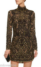EMILIO PUCCI Studded Leather Embellished Runway Dress BNWT 8 US 6 IT 40 £5495