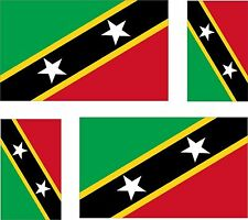 4 x Aufkleber Auto Sticker  st kitts and nevis saint motorrad Fahne Flagge