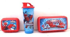 Marvel Ultimate Spider-Man 3-Piece Lunch Box Set NWT Red