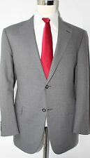 Hickey Freeman Gray Solid Two Button Side Vented Super160s Wool Suit 43 R 37 30