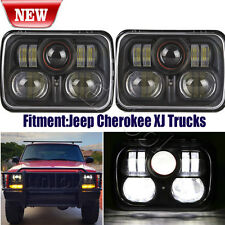 "2PC New Black 5"" X 7"" LED Headlight Replacement for Jeep Cherokee XJ Trucks"