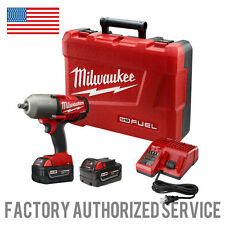 "MILWAUKEE 2763-22 M18 Fuel 1/2"" High Torque Impact Wrench W/ 5.0 AMP HR BATTS!"