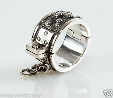 King Queen Baby Sterling Silver Shackle Finger Ring size 10 K20-5685