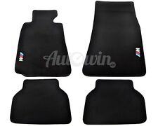 BMW 5 Series E39 Black Floor Mats With ///M Emblem Clip LHD TAILORED NEW