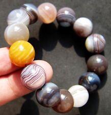 15mm Botswana Agate Bangle Gemstone Crystal Bracelet gift