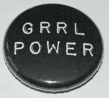"Feminism Button Badge 25mm / 1 inch ""Grrl Power"" Riot Grrrl Punk Feminist"