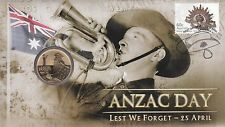 2012 PNC Australia, ANZAC DAY Lest We Forget, with special unc $1 coin