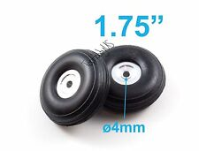 "1Pair of 1.75"" Light Weight RC Plane PU Wheels, Aluminum Alloy Hub, US 006-04004"