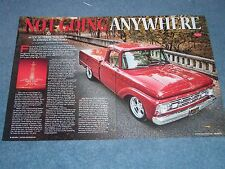 "1964 Ford F-100 Styleside Resto-Rod Pickup Article ""Not Going Anywhere"""