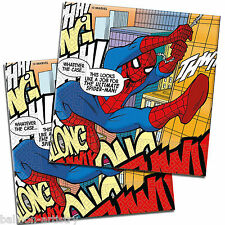 20 Ultimate Spider-Man Comic Book Art Party Disposable 33cm Paper Napkins