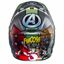 *NEW* 2017 HJC MOTORCYCLE QUAD SCOOTER MARVEL AVENGERS CRASH HELMET S 55-56 CM