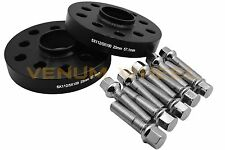 25mm Audi Volkswagen Black Hub Centric Wheel Spacers + Chrome Ball Seat Lug Bolt