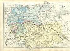 AUTRICHE AUSTRIA OSTERREICH DEUTSCHLAND GERMANY MAP CARTE ATLAS 1870