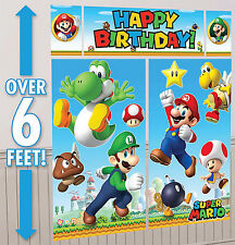 Super Mario Brothers Scene Setter Happy Birthday Banner Party Supplies Nintendo
