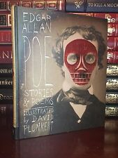 Edgar Allan Poe Stories & Poems Illustrated by D. Plunkert New Deluxe Hardback