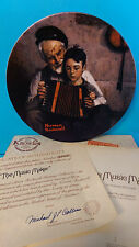 Knowles Norman Rockwell The Music Maker Heritage Collection Boxed Plate