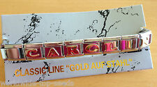 Armband mit Name CAROLIN  für NOMINATION CLASSIC LINE EDELSTAHL GOLD