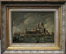 GUARDI CANALETTO OLD MASTER  ITALIAN VENETIAN SANTA MARIA 1880 OIL PAINTING ART