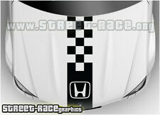 BS1203 Honda bonnet racing stripes graphics decals stickers Civic Accord CRV
