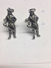 Bart Roberts Pirate Figure WE-PKR2 Fine English Pewter Cufflinks
