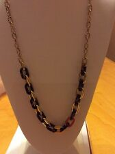 "$175 Michael Kors ""Color Block"" Gold-Tone and Acetate Chain Necklace, 30"""