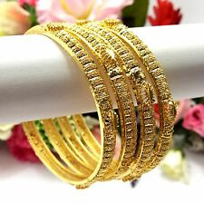 Indian Asian Size:2.10 Pakistani Bridal Jewellery 22ct Gold Plated Bangles