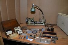 Unimat SL1000 mini lathe watchmaker jeweler machinist precision tool with extras