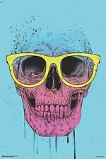 SKULL WITH SUNGLASSES - POP ART POSTER - 24x36 - 10890