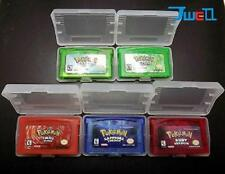 Great Gift! 5PCS Game Card Pokemon Games Emerald Ruby Sapphire Firered LeafGreen