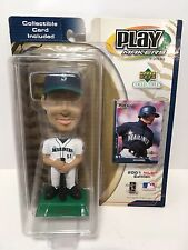 ICHIRO ROOKIE 2001 UPPER DECK PLAYMAKERS BOBBLEHEAD & ROOKIE TRADING CARD NEW