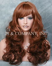BOUNCY LONG WAVY Curly Layered Red Ginger Mix WIG JSCA g130
