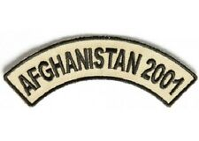 AFGHANISTAN 2001 MILITARY VETERAN EMBROIDERED ROCKER BIKER PATCH