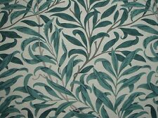"WILLIAM MORRIS CURTAIN FABRIC ""Willow Bough's Major"" 1.3 MTRS TAUPE/GREEN (130CM"