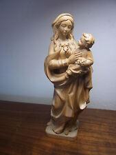 geschnitzte Heiligenfigur Maria mit Kind - carved wooden Christian Madonna #O