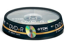 10x TDK blank DVD+R DL Double Dual Layer CakeBox 8.5 240mins 8.5GB