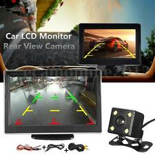 5'' LCD Monitor + Waterproof Night Vision Rear Reverse Parking Backup Camera Kit