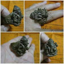 Big Brass Ring Size 13 Ganesha Hindu God of Success Elephant Headed A9-13A2