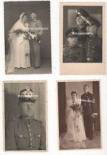 4 Original Portrait Fotos Polizei mit Tschako / Hochzeit / Schirmmütze 2. WK