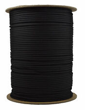 Black - 550 Paracord Rope 7 strand Parachute Cord - 1000 Foot Spool