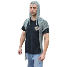 Medieval Renaissance Functional Stronghold Chainmail Vest with Hood