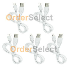 5 USB White Battery Charger Data Cable for Android Samsung Galaxy Note 1 2 3