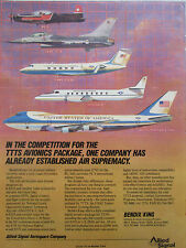 6/1988 PUB ALLIED SIGNAL BENDIX KING AVIONICS USAF AIR FORCE ONE C-208 EFIS AD