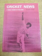 20/08/1977 Cricket News: Vol.01 No.16 - A Weekly Review Of The Game. Any faults
