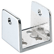 CRL Chrome U-Bracket for Restroom Partitions