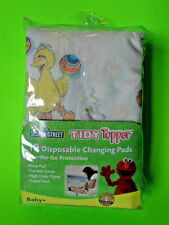 Sesame Street Tidy Topper 10 DISPOSABLE BABY CHANGING PADS New In Package!