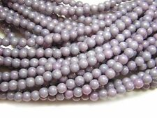 4mm Opaque Amethyst Luster Czech Glass Round Beads (100 #2820