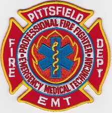 Pittsfield EMT Fire Dept. Firefighter Patch NEW!!