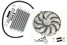 "Transmission Oil Cooler15-1/2""x10""x3/4""&Electric12""cooling fan with Mounting Kit"