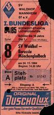 Ticket BL 84/85 SV Waldhof Mannheim - Borussia Mönchengladbach, 24.11.1984