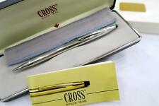 CROSS STERLING SILVER CLASSIC CENTURY MECHANICAL PENCIL IN CASE WITH PAPERS 1990